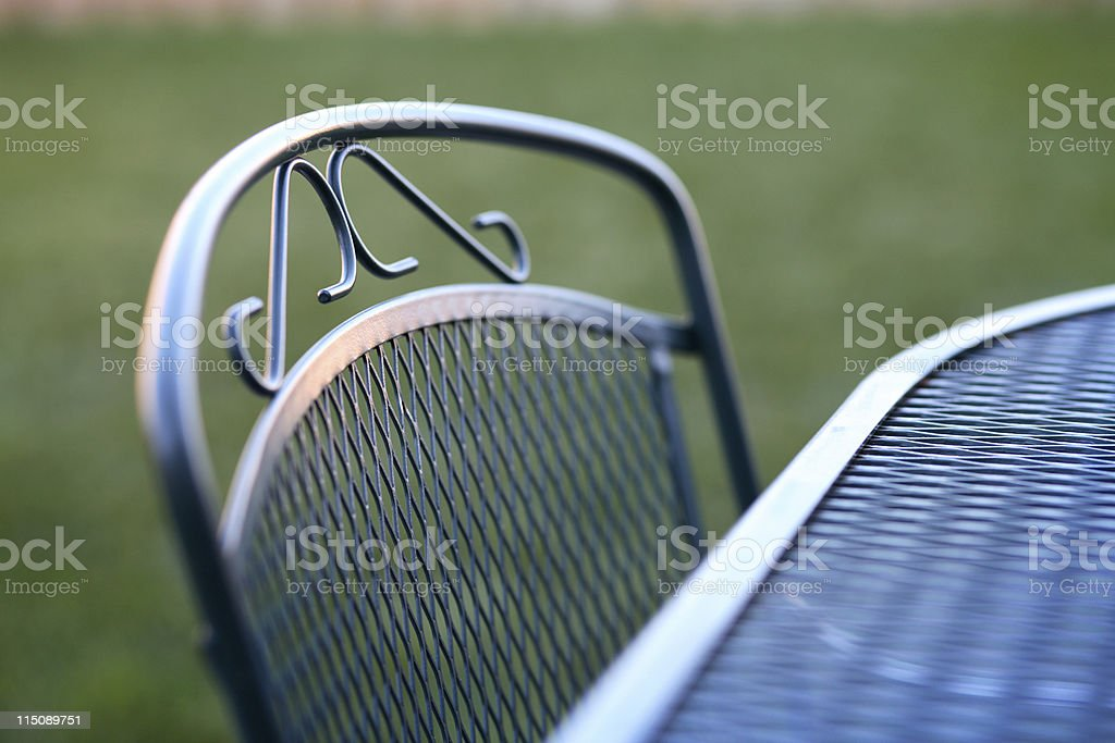 deck table chair scene stock photo
