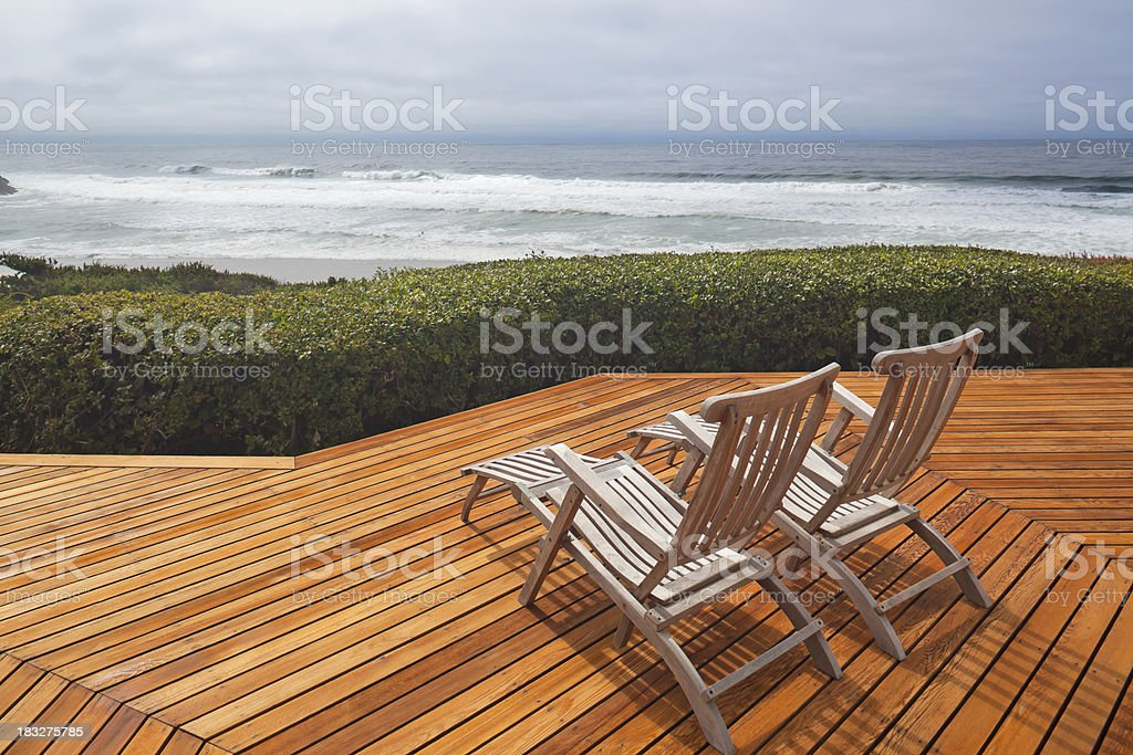 Deck with Ocean View royalty-free stock photo