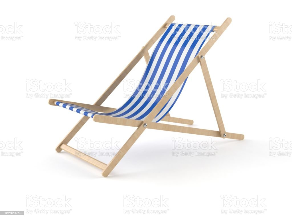 Deckchair royalty-free stock photo
