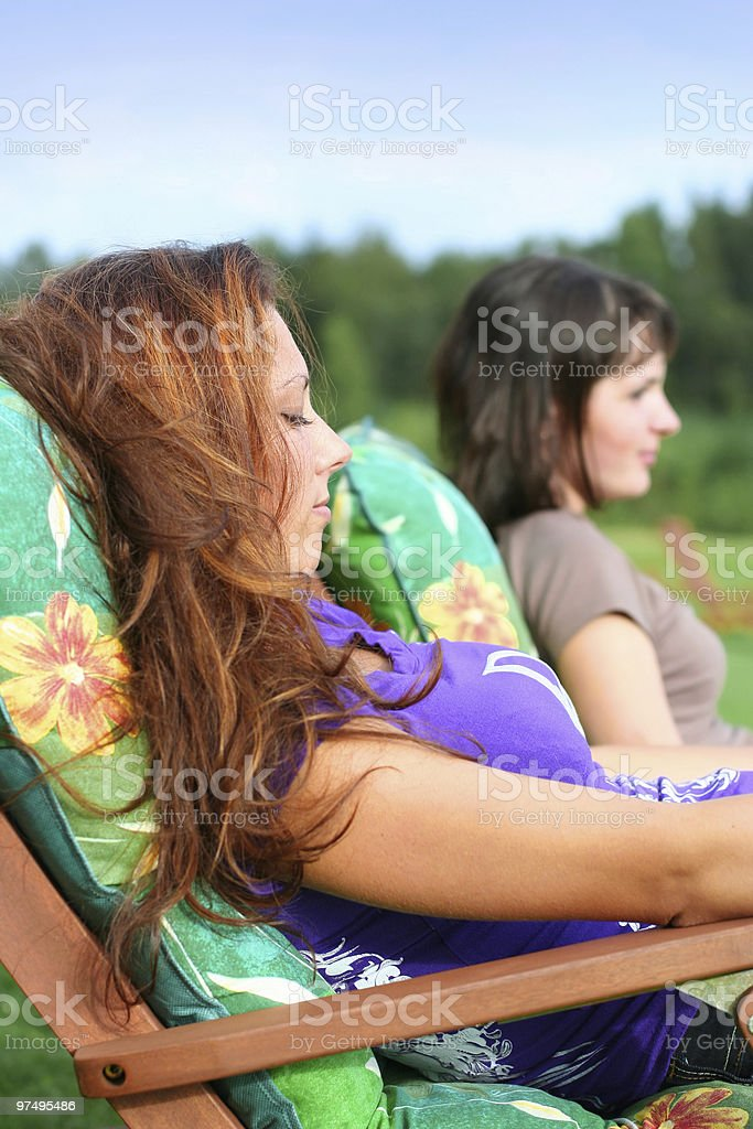 deck-chair royalty-free stock photo