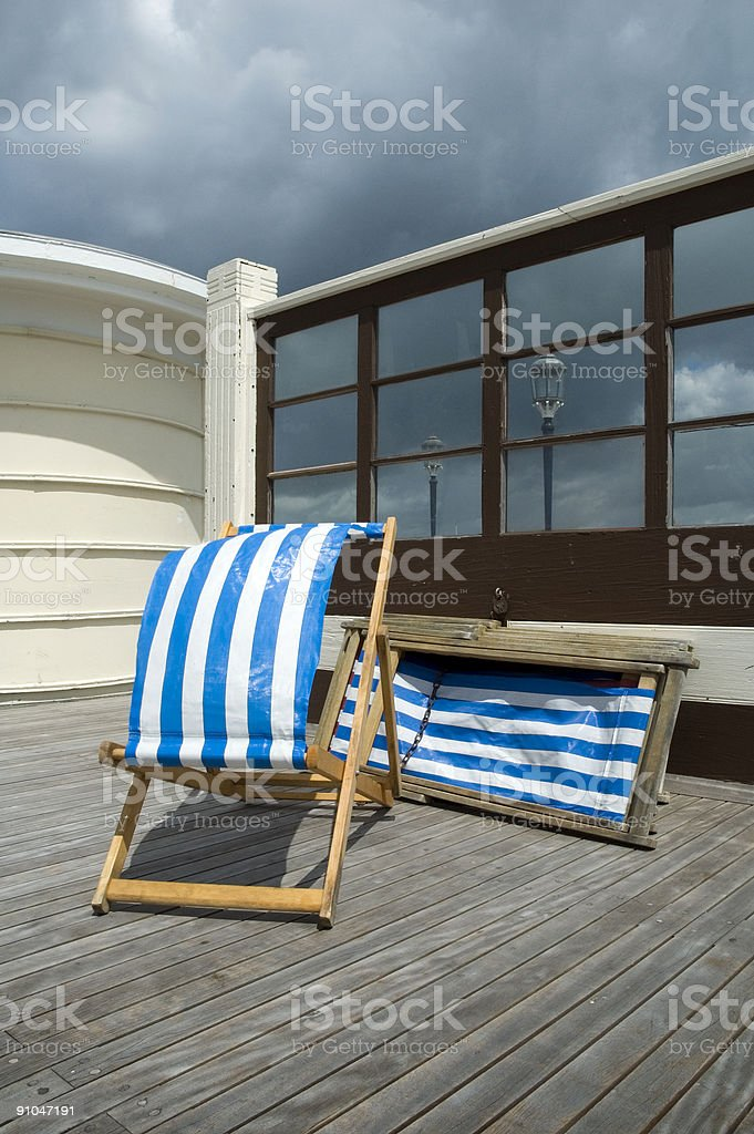 Deckchairs royalty-free stock photo