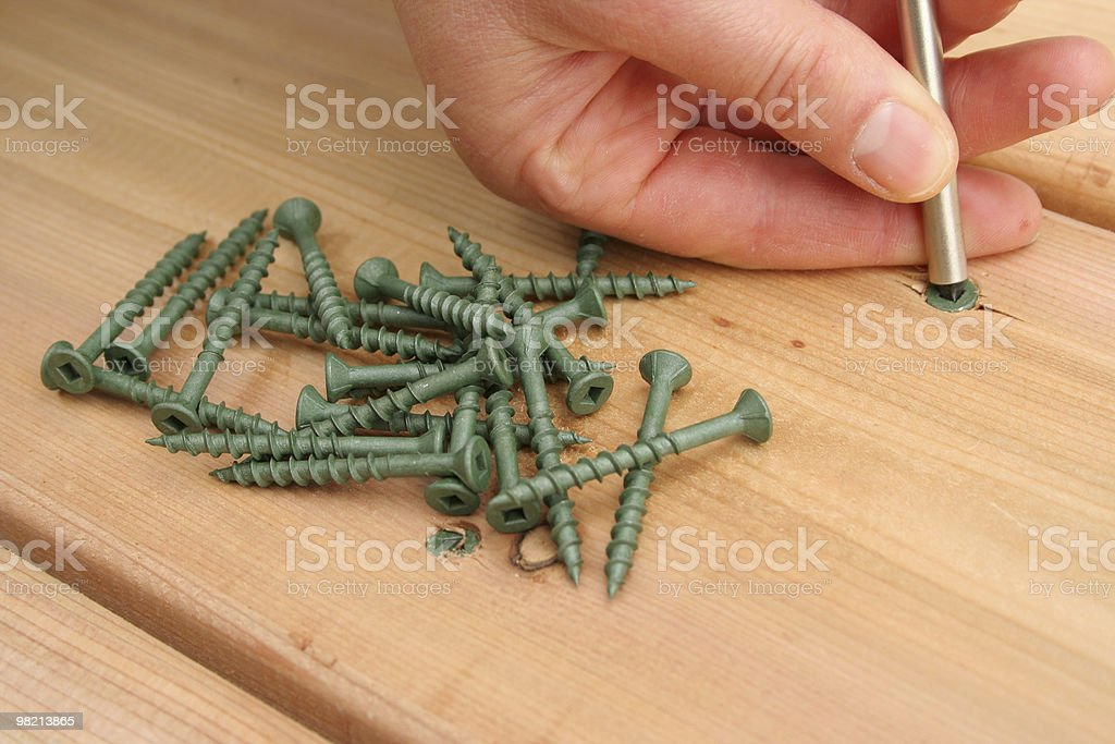 Decking Screws royalty-free stock photo