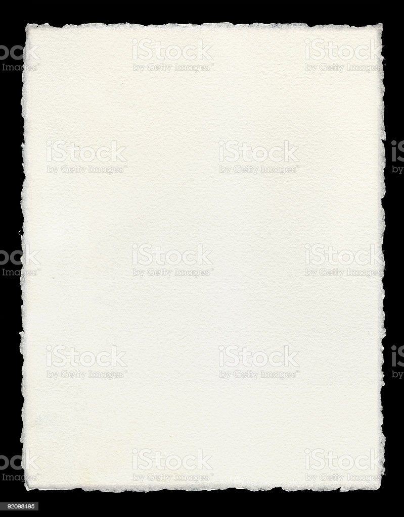 Deckle Edged Paper stock photo
