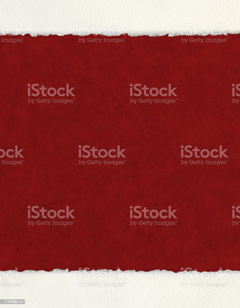Deckled Edges on Red stock photo