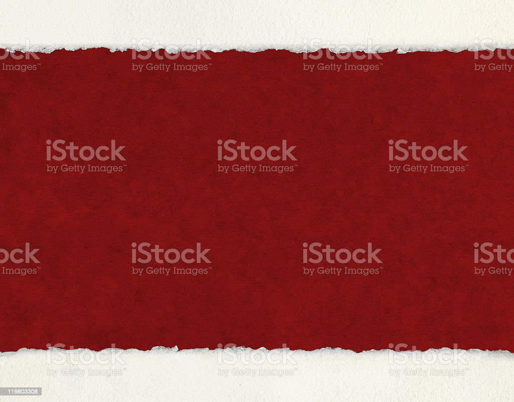 Deckled Edges on Red (horizontal) stock photo