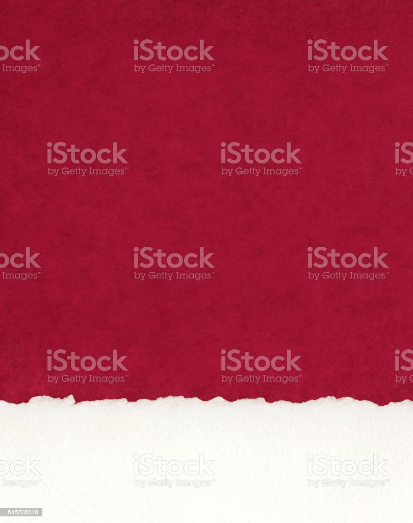 Deckled Paper Border on Red stock photo