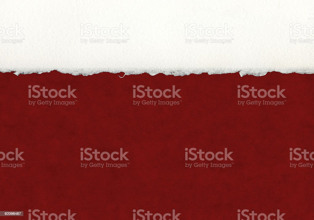 Deckled Paper Detail stock photo
