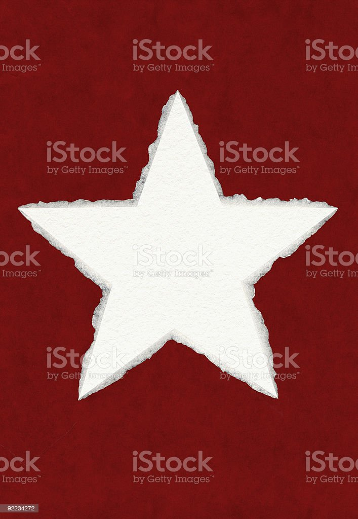Deckled Paper Star stock photo