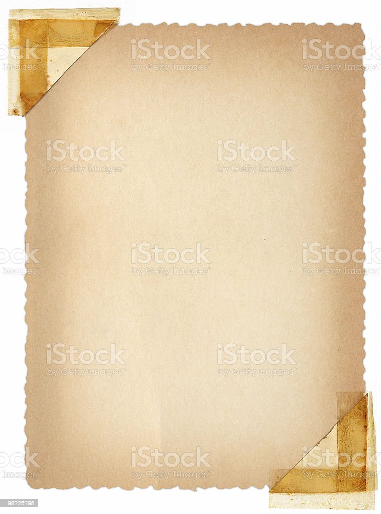 Deckled Postcard royalty-free stock photo