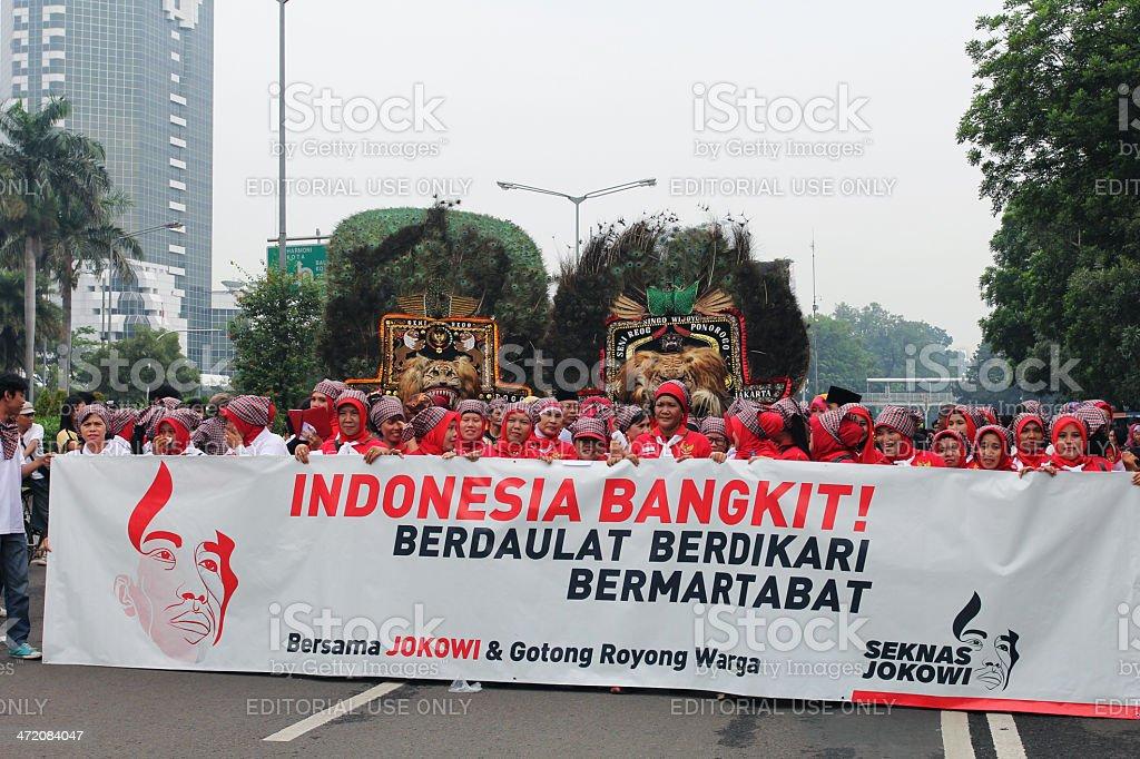Declaration of citizen support Joko Widodo became President 2014 stock photo
