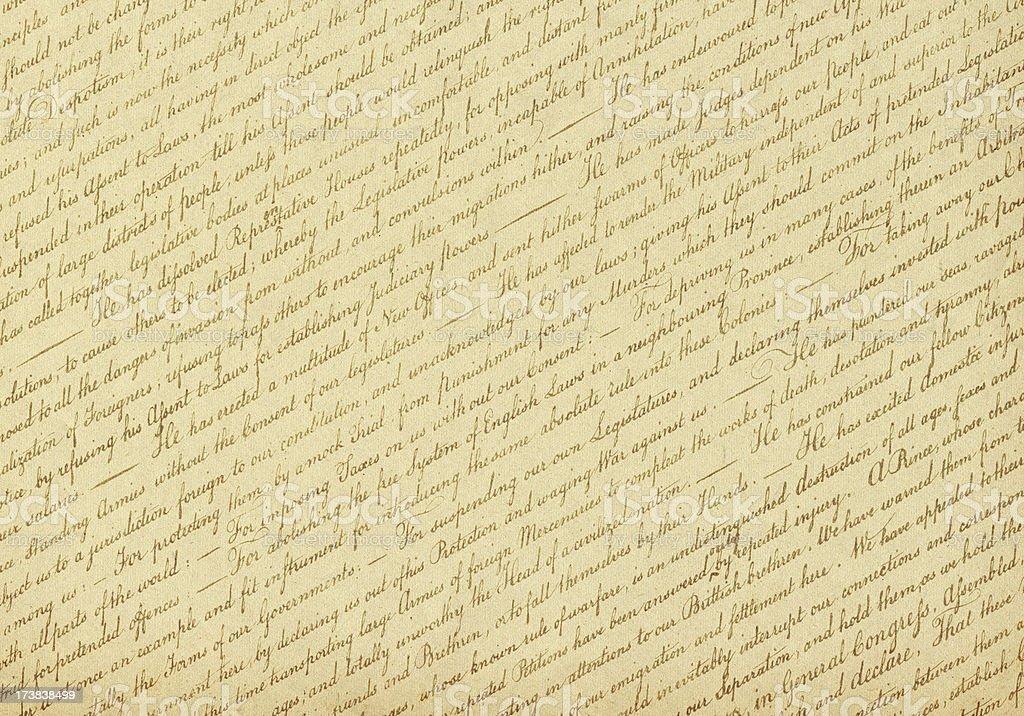 US Declaration of Independence Background (XXXL) royalty-free stock photo