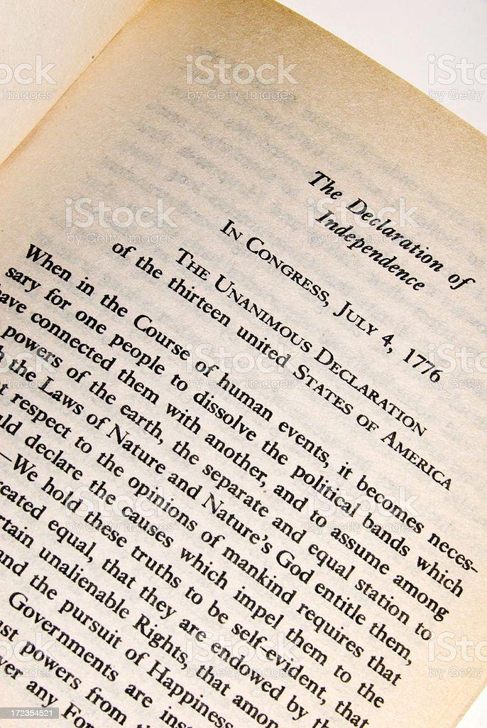 Declaración de la independencia-constitución serie foto de stock libre de derechos