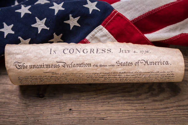 Royalty free declaration of independence pictures images and stock declaration of independence on flag stock photo publicscrutiny Gallery