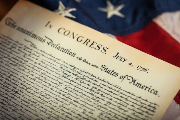 Declaration of independence. stock photo