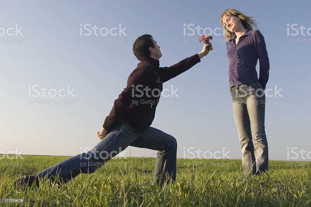 Declaration of love royalty-free stock photo