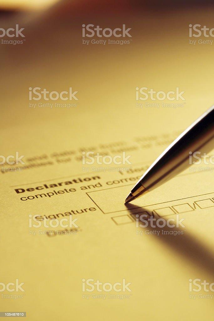 Declaration royalty-free stock photo