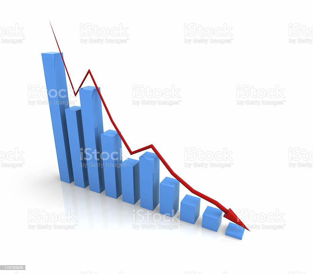 Decline Chart (Financial Crisis Concept) stock photo