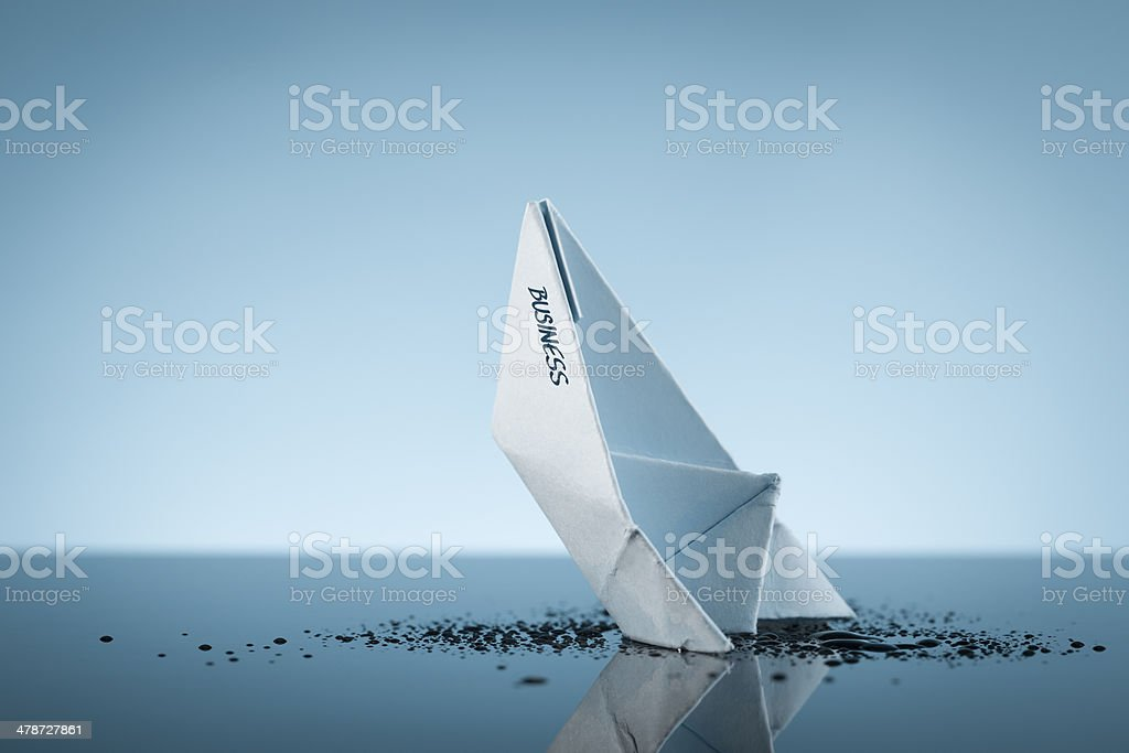 Declining business stock photo