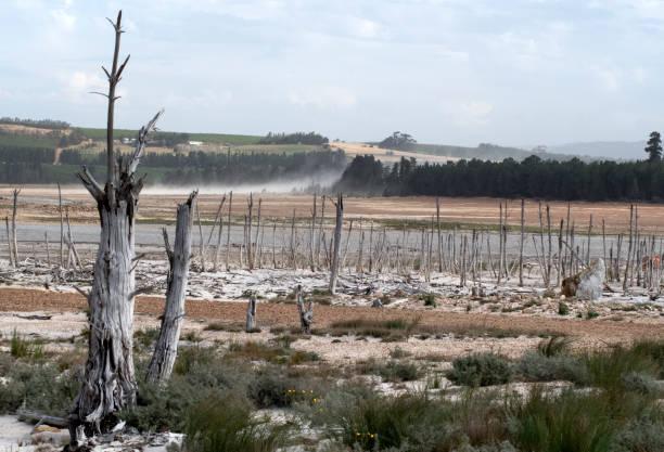 Sinkenden ein Wasser-Reservoir, Südafrika – Foto