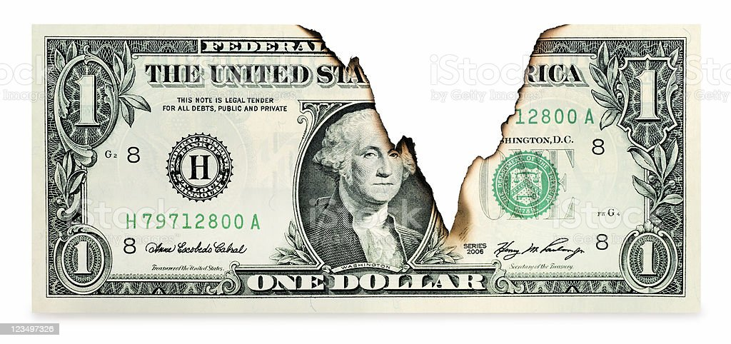 Declining U.S. Dollar royalty-free stock photo
