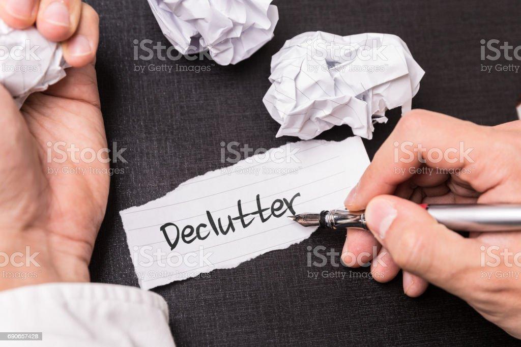 Declutter stock photo