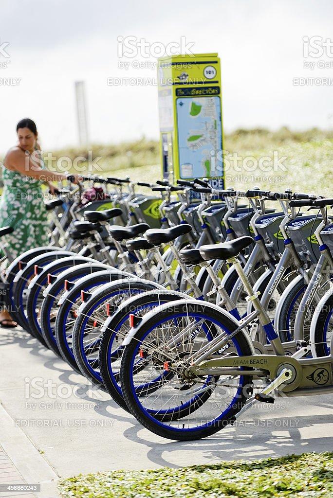 Decobike Rental Point, Miami Beach royalty-free stock photo