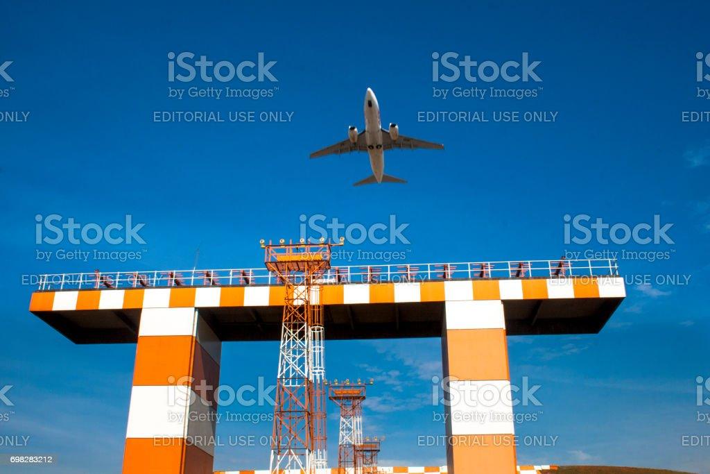 Decolagem de um avião Aeroporto de Congonhas - foto de acervo