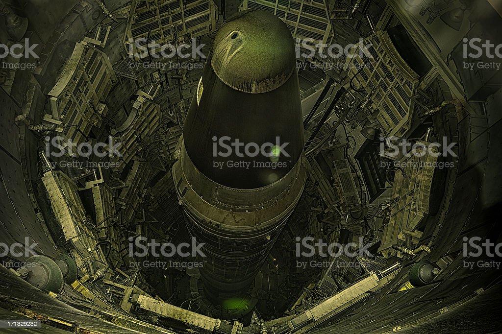 Decommissioned Titan 2  Missile  In Sahuarita Arizona stock photo