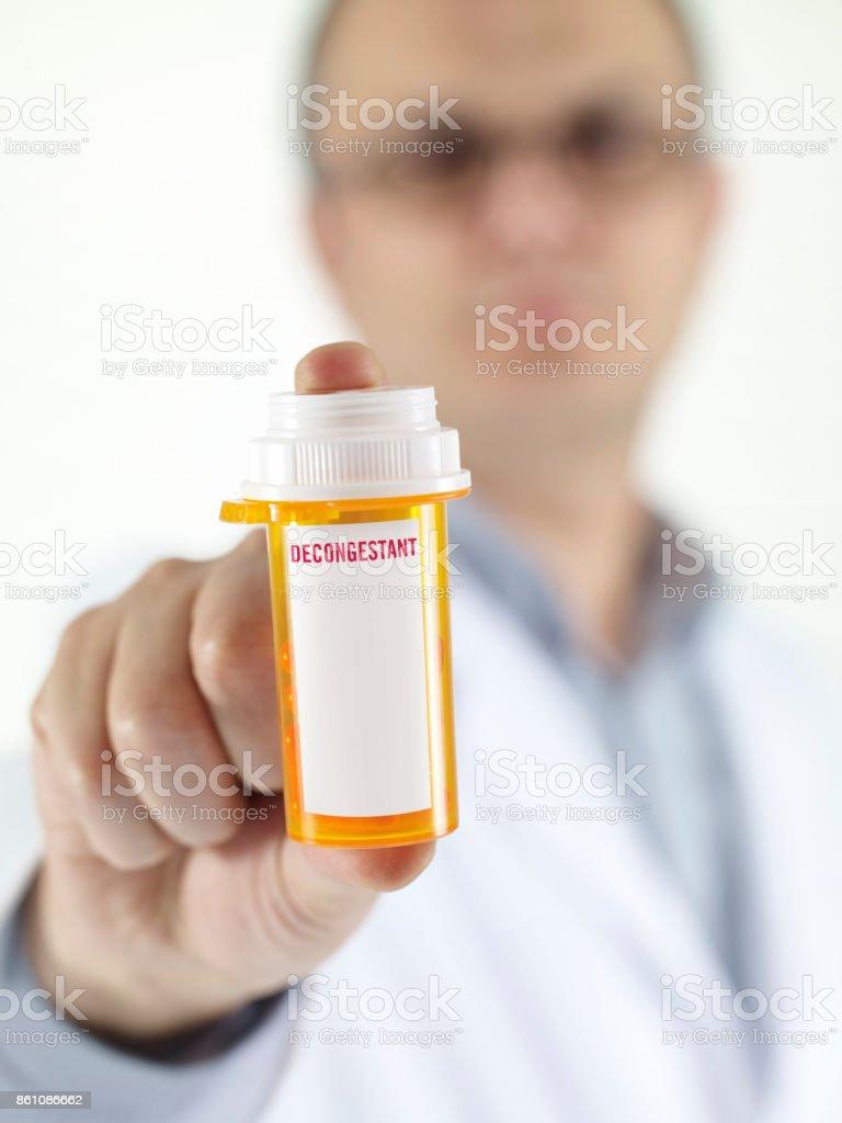 Decongestant drug stock photo