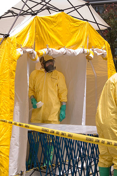 Decon-shower crew  decontamination stock pictures, royalty-free photos & images