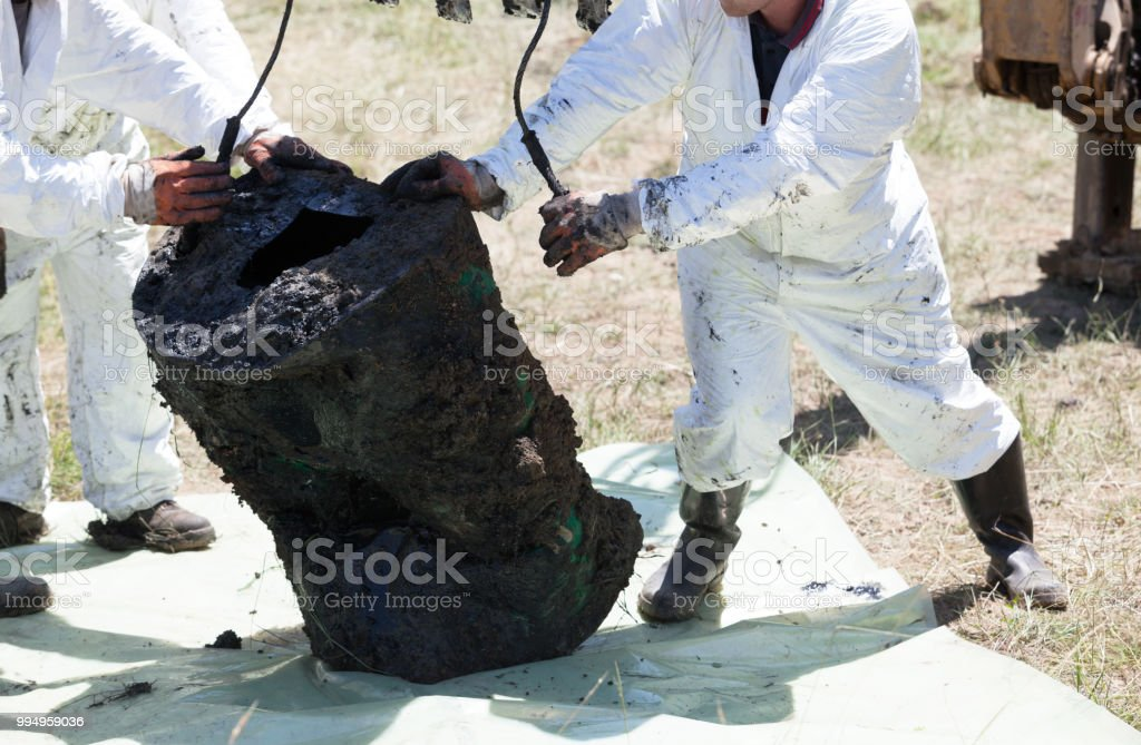 Decontamination unit cleaning toxic pollution in the environment stock photo