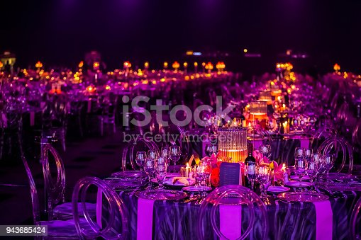 istock Decor for a large party or gala dinner 943685424