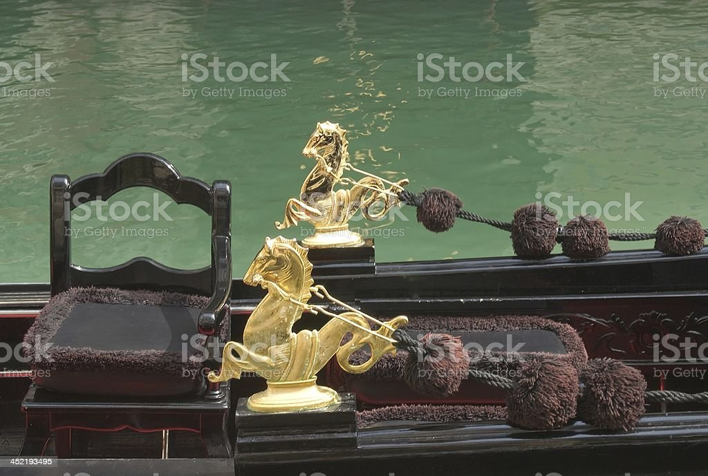 Decor of Venetian gondola royalty-free stock photo