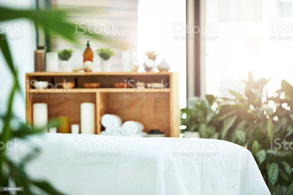 Decor that promotes relaxation stock photo