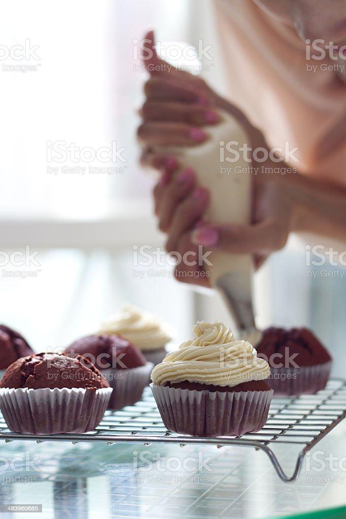 Decorate Cupcake stock photo