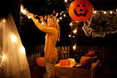 Decorate house for Halloween