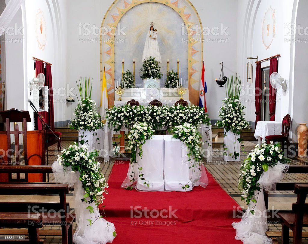 Decorated altar stock photo