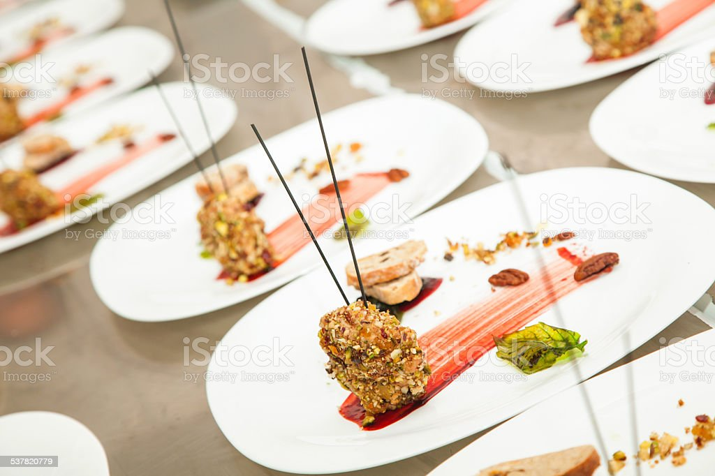 decorated appetizer stock photo
