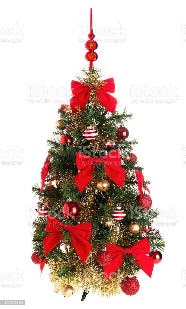 Decorated artificial christmas tree royalty-free stock photo