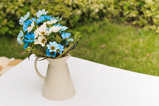 Decorated artificial flowers