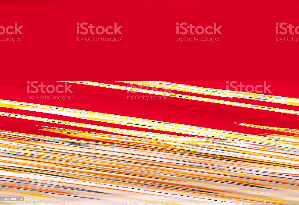 Decorated birthday cake. Number 13 burning candles. Red background. stock photo
