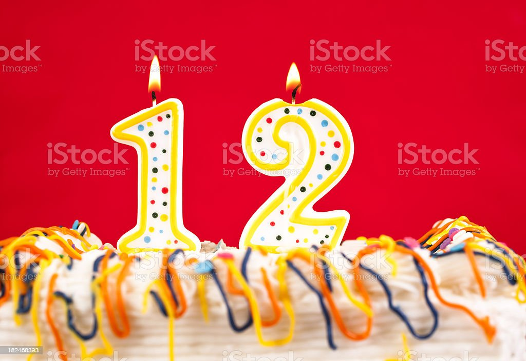 [Image: decorated-birthday-cake-with-number-12-b...d182468393]