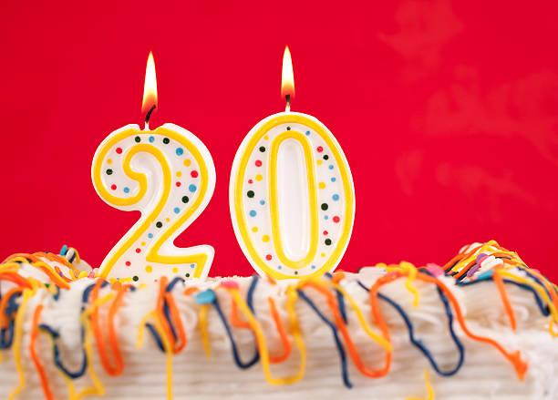 Best Number 20 Birthday Cake Birthday Cake Stock Photos