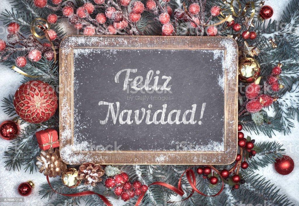 Buon Natale In Spagnolo.Lavagna Decorata Con Testo Feliz Navidad O Buon Natale In Spagnolo Fotografie Stock E Altre Immagini Di A Forma Di Stella Istock