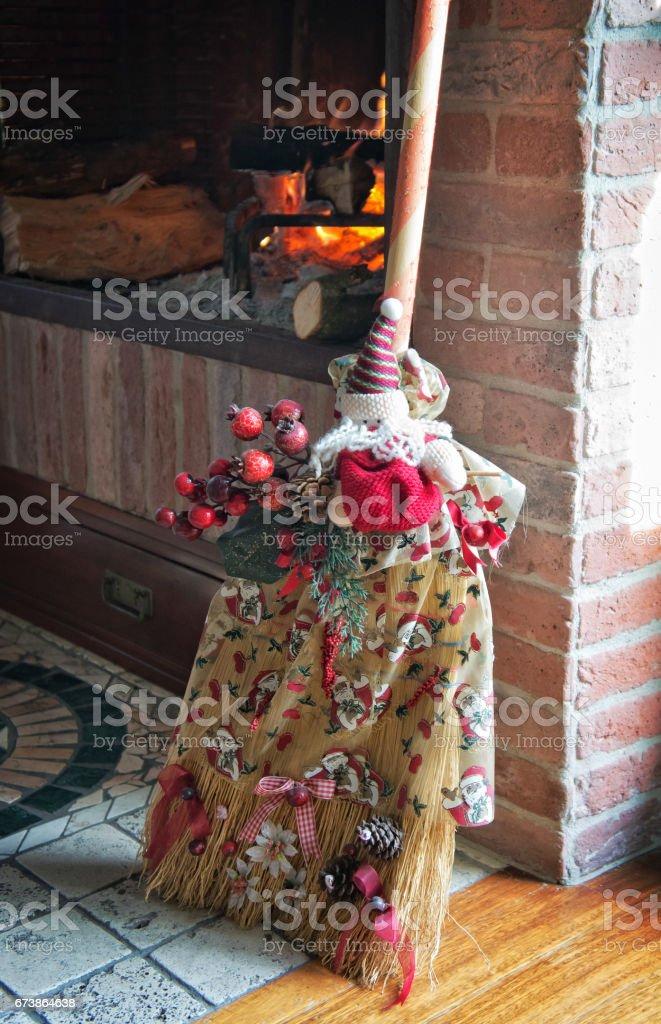 Decorated broom - foto stock