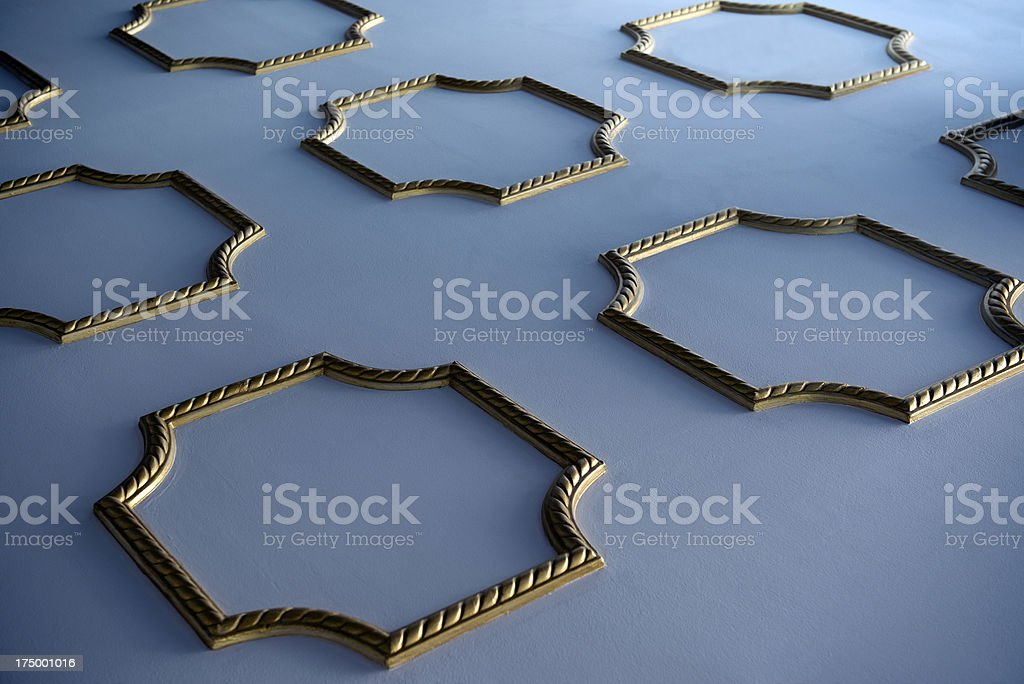 Decorated ceiling royalty-free stock photo