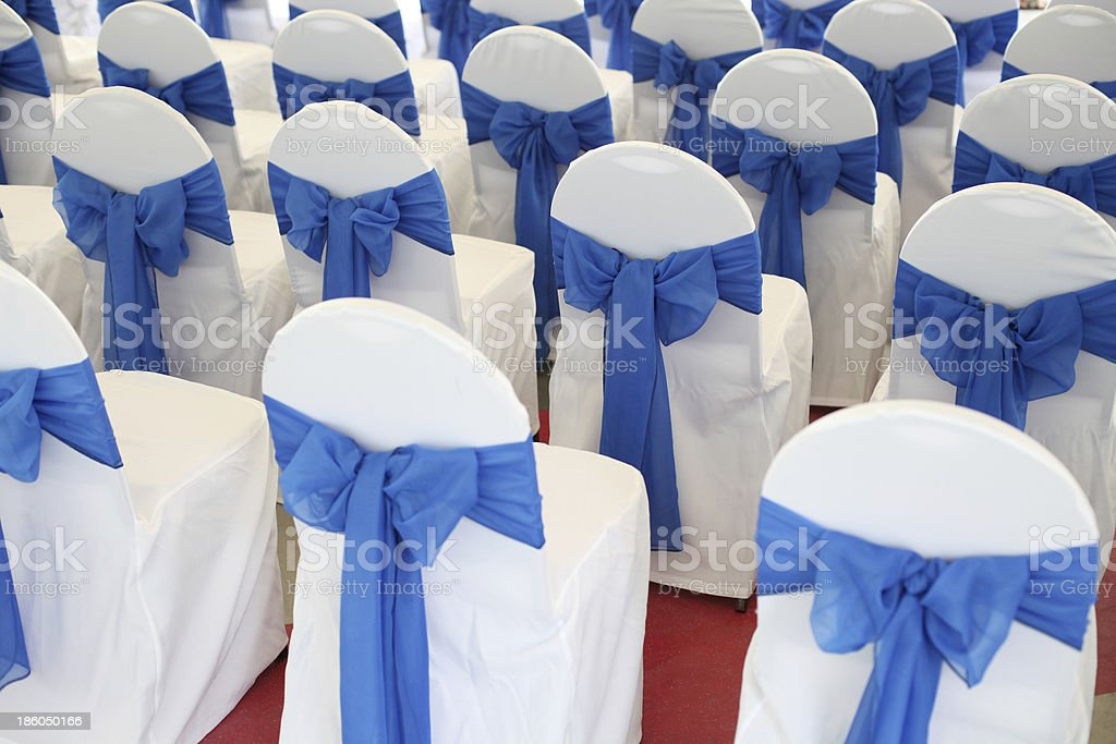 decorated chairs royalty-free stock photo