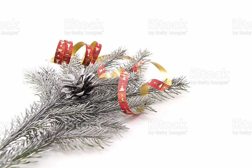 decorated christmas branch royalty-free stock photo