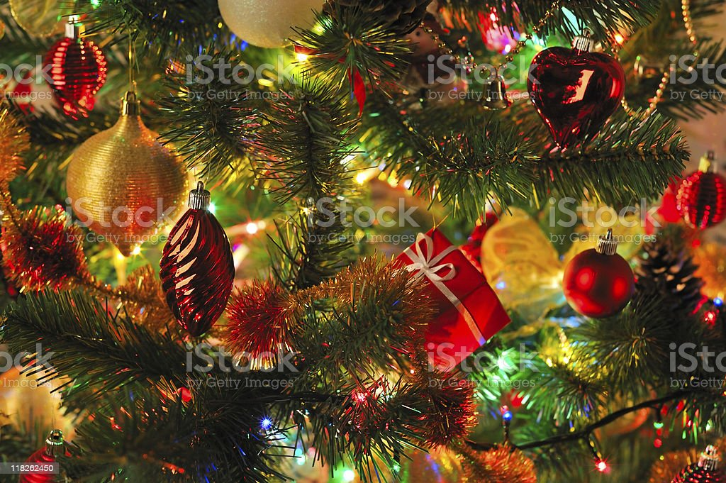 decorated Christmas fir royalty-free stock photo