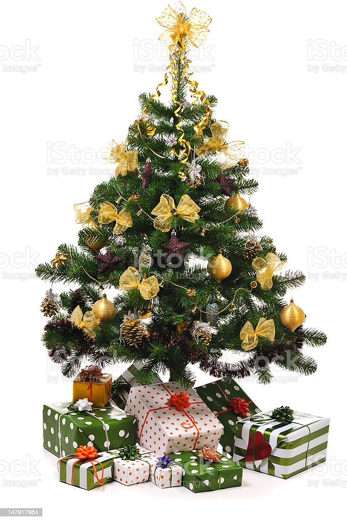 decorated Christmas fir tree royalty-free stock photo